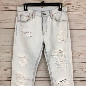 NWOT Levi's 511 Light Distressed Boyfriend Jeans
